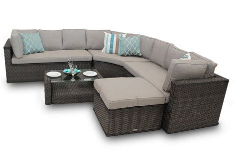 round sectional sofa set rattan corner sofa set new brantwood back 5 brown