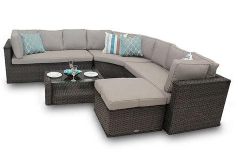 corner sofa set rattan corner sofa set new brantwood back 5 brown