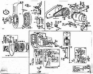 Generator Starter  Carburetor  And Flywheel Assembly