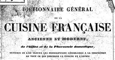 dictionnaire de la cuisine télécharger dictionnaire général de la cuisine française