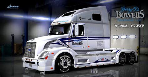 volvo vnl  bowers trucking llc skin mod ats mod