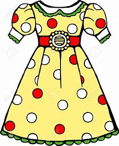 Dress clipart spotted - Pencil and in color dress clipart ...