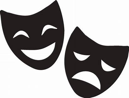 Cartoon Theatre Masks Clipart Greeting Transparent Actor