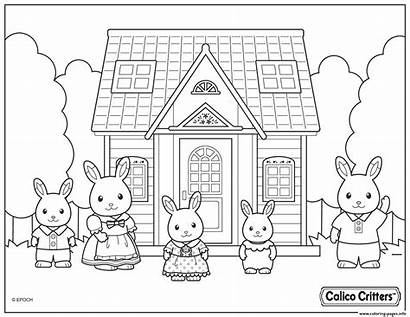 Coloring Pages Calico Critters Printable Colouring Families