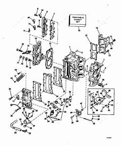 Evinrude 1982 9 90 - E10rcns  Cylinder  U0026 Crankcase