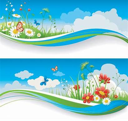 Vector Spring Clipart Nature Banners Banner Summer
