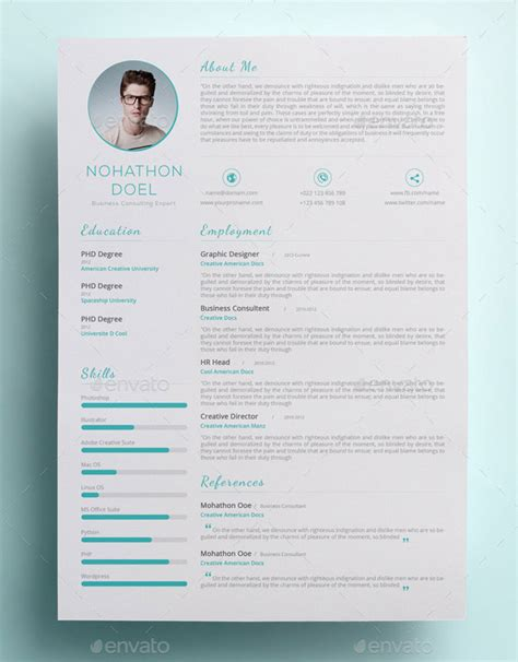 Clean Modern Resume Design by A List Of Popular Modern Resume Templates