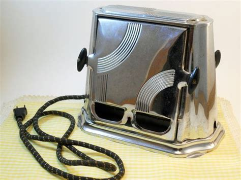 deco kitchen appliances reserved for aileen vintage flopper toaster electric with deco styling still works