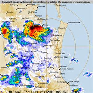 meteorology bureau australia radar photo shows storms brisbane abc