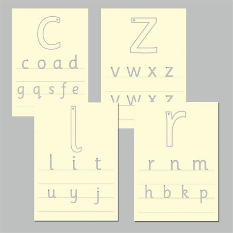 letter formation tracing boards  early years
