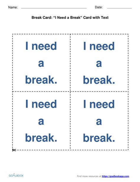break request cards goalbook pathways