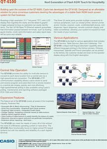 Casio Qt 6100 Users Manual