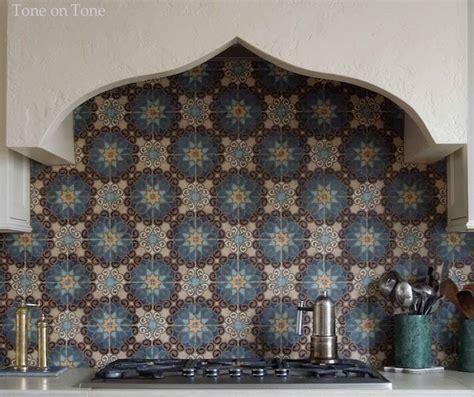 Moroccan Terra Cotta Tiled Backsplash From Mission Tile
