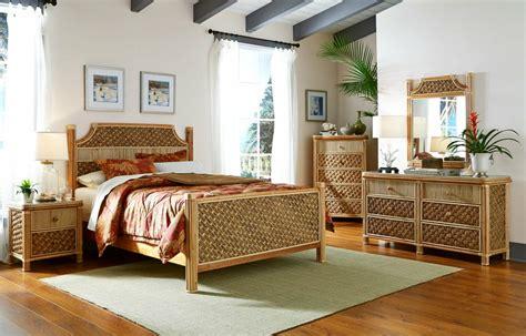 Island Style Bedroom Furniture by Island Tropical Wicker Bedroom Set Kozy Kingdom