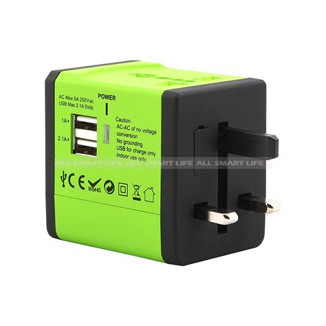 world wide travel charger adapter built in dual usb