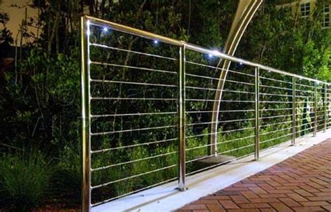 Steel Deck Handrails by Metal Deck Railing Wood Aluminum Galvanized Iron And