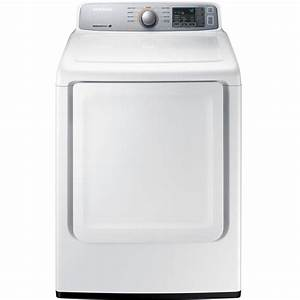 Samsung 7 4 Cu  Ft  Gas Dryer In White-dv45h7000gw