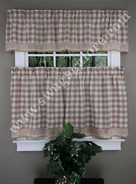 Buffalo Check Kitchen Tiers, Valances, & Curtain Panels