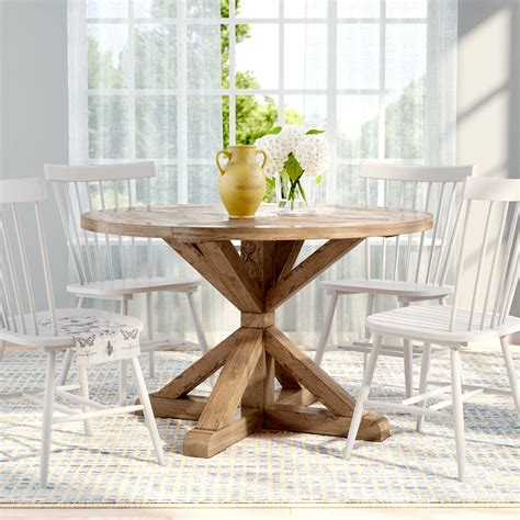 lark manor peralta  rustic dining table reviews