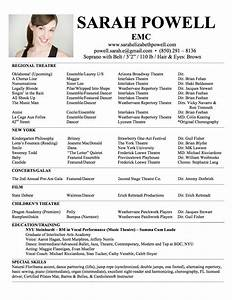 fill in the blank acting resume template special skills With headshot resume template