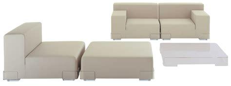 canapé kartell canapé modulable plastics module accoudoir gauche l 90