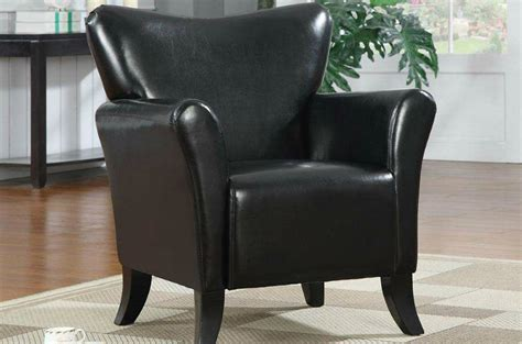 coaster 900253 black leather accent chair a sofa