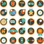 Icons Icon Gamification Flat Powerpoint Library Presentation