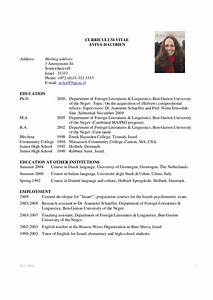 Academic cv example download best cv format for Cv format example