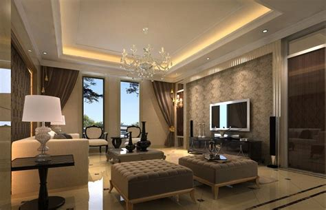 Beautiful Living Room Simple Ceiling Design Residence