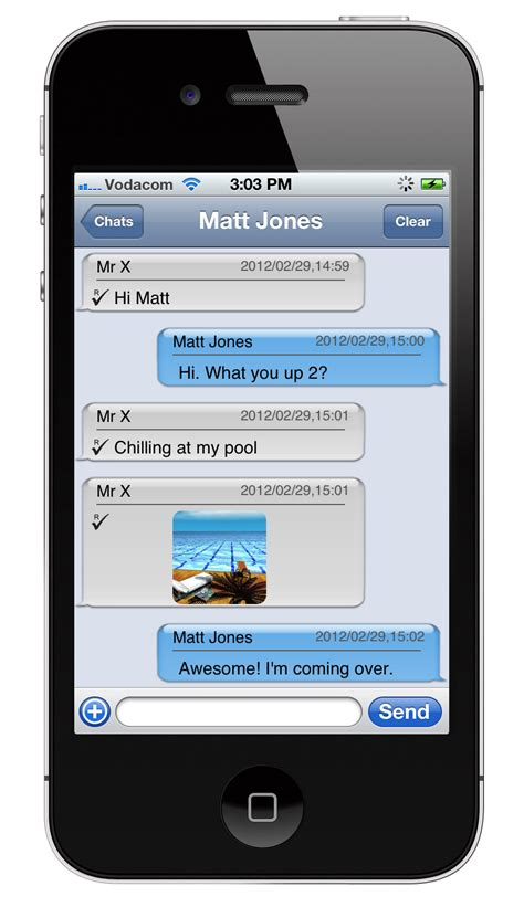 what is messaging on iphone ui to show messages like iphone messenger
