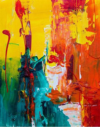 Abstract Painting Acrylic Modern Paint Watercolor Canvas