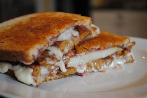 great recipes great edibles recipes raspberry pear grilled cheese sandwich