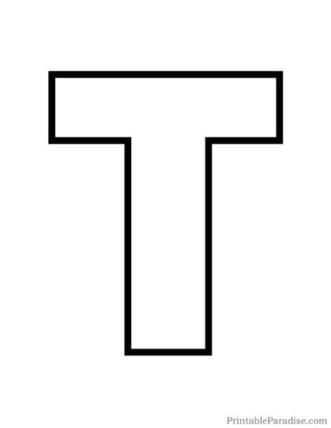 sheets of tin printable letter t outline print letter t