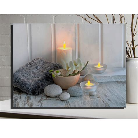 light lighted led canvas wall painting spa picture