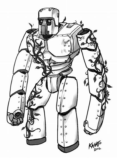Golem Iron Sketch Minecraft Coloring Mob Pages