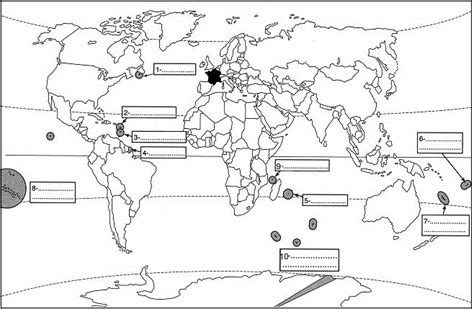 Carte Du Monde Vide A Completer by Carte Geographique A Completer My
