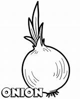 Coloring Pages Vegetable Onion Printable Vegetables Children Topcoloringpages Sheet sketch template