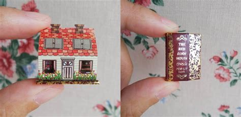 miniature pop  books hold beds  staircases smaller