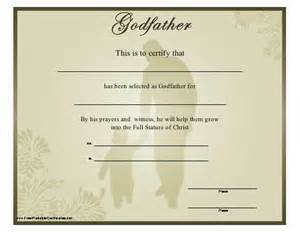 Free Printable Godparent Certificates