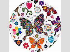 Cialdeper torta con disegni di farfalle