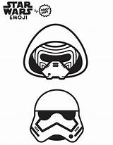 Coloring Wars Emoji Star Pages Stormtrooper Fourth Sheets Printable Nerdy Fashionably Fashionablynerdy sketch template