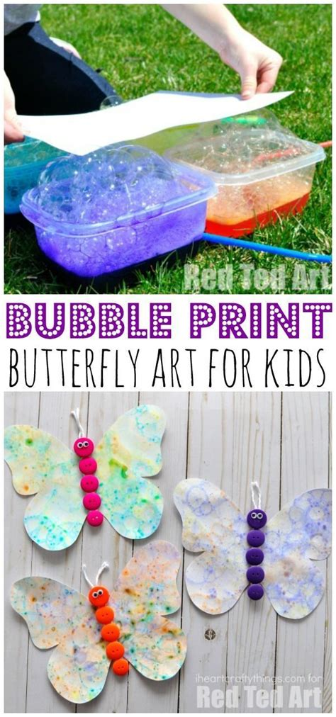 bubble blowing art butterfly craft butterfly crafts