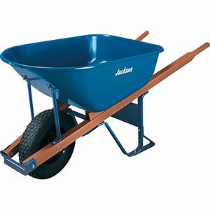 Shop JACKSON 6-cu ft Steel Wheelbarrow Flat-Free Tire at