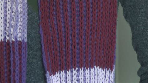 two color brioche stitch knitting 2 color brioche stitch scarf