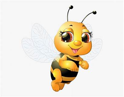Bee Bumble Clipart Funny Cartoon Honey Transparent