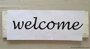 DIY Welcome Sign – Beautiful Havens