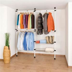 Dressing Sans Porte : wenko syst me de rangement dressing t lescopique hercules ~ Edinachiropracticcenter.com Idées de Décoration