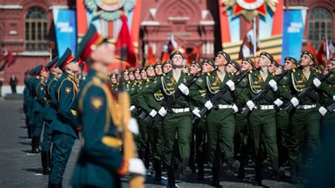 russia marks victory day  vast military parade