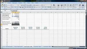 Home Amortization Table Excel 2007 2010 Amortization Tables Loan Amounts You Pay