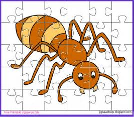 free printable jigsaw puzzle ant jigsaw puzzle